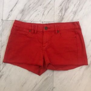 Madewell Red Denim Shorts